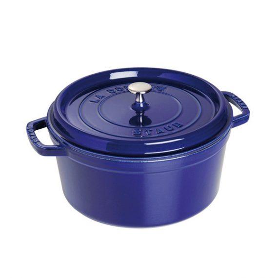 Staub Dark Blue Round Cocotte