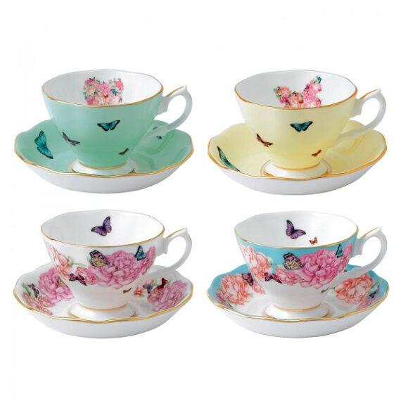 Royal Albert Miranda Kerr Teacups and Saucers
