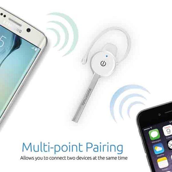 Bluetooth Headset - Ultra-Slim - Professional Multi-Point Pairing - Ca