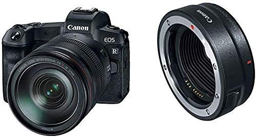 Canon Eos R Digital Mirrorless Camera With Rf 24-105Mm F4L Is Usm Lens