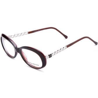 Carolina Herrera Cat-Eye Eyeglasses Frame Unisex Brown / Silver (CH506