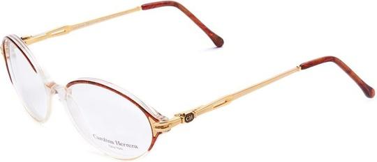 Carolina Herrera Oval Eyeglasses Frame Unisex Havana / Gold Plated (CH