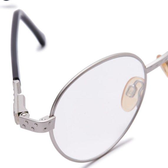 Carolina Herrera Oval Eyeglasses Frame for Unisex Black / Silver (CH70