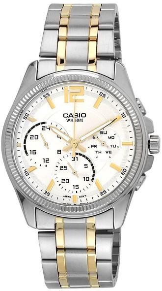 Casio Men's Grey Dial Steel Band Watch MTP-E305SG-9AVDF