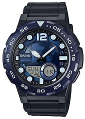 Casio - Rubber General Analog Watch For Men (AEQ-100W-2AVDF)