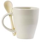 Ceramic Mug with Spoon & Coaster