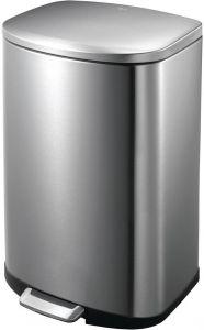 EKO Della Stainless Steel Rectangular Step Waste Bin with Soft Close L