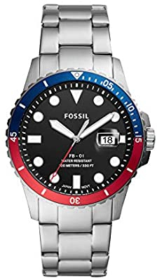 Fossil Men's FB-01 Three-Hand Date Stainless Steel Watch (FS5657)