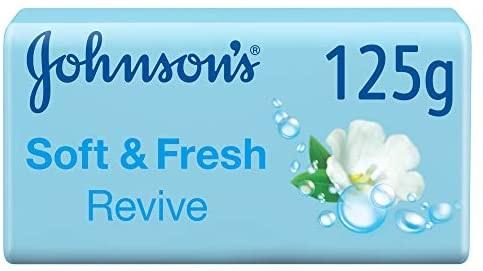 Johnson's Soft & Fresh Revive Bath Soap 125gm - Pack OF 6 (UAE Deliver
