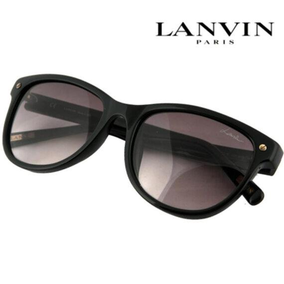 Lanvin Cat-Eye Shape Unisex Sunglasses Frame Black and Lens Grey Color