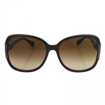 Lanvin Oval Shape Wrap Women's Sunglasses Brown Frame and Lens Color B