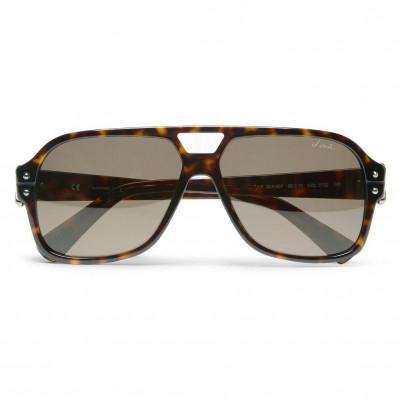 Lanvin Oversized Unisex Sunglasses Frame Color Brown Designed and Lens