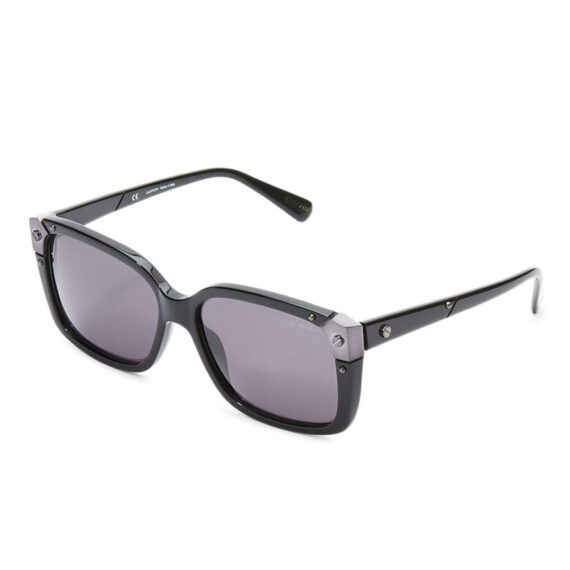Lanvin Square Frame Shape Unisex Black Color Sunglasses and Lens Grey