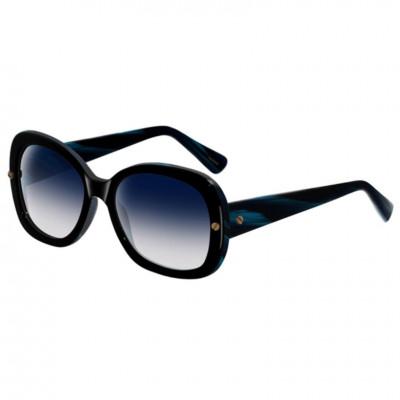 Lanvin Women's Oval Shape DESIGNER Sunglasses Black Frame Lens Black (
