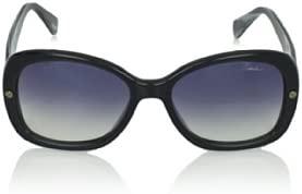 Lanvin Women's Oval Shape Marble Black White Blue Designer Sunglasses