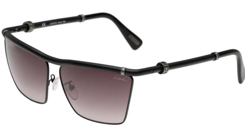Lanvin Women's Square Sunglasses Frame Matte Black Lens Grey (SLN005S-