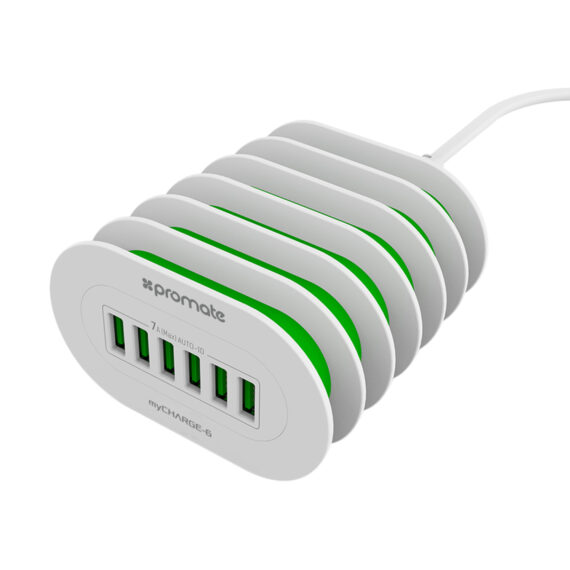 Promate MyCharge 4.8A Wall Charger With 3 USB Ports (MyCharge-6-UK)