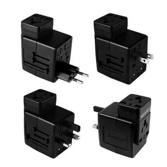 Promate Universal Travel Adapter Worldwide Plugs UK EU US AU Auto Swit