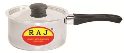 RAJ STEEL SAUCE PAN WITH COVER - 16cm