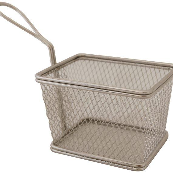 Raj Mini Steel Snack Holder/French Fries Basket Diamond Square