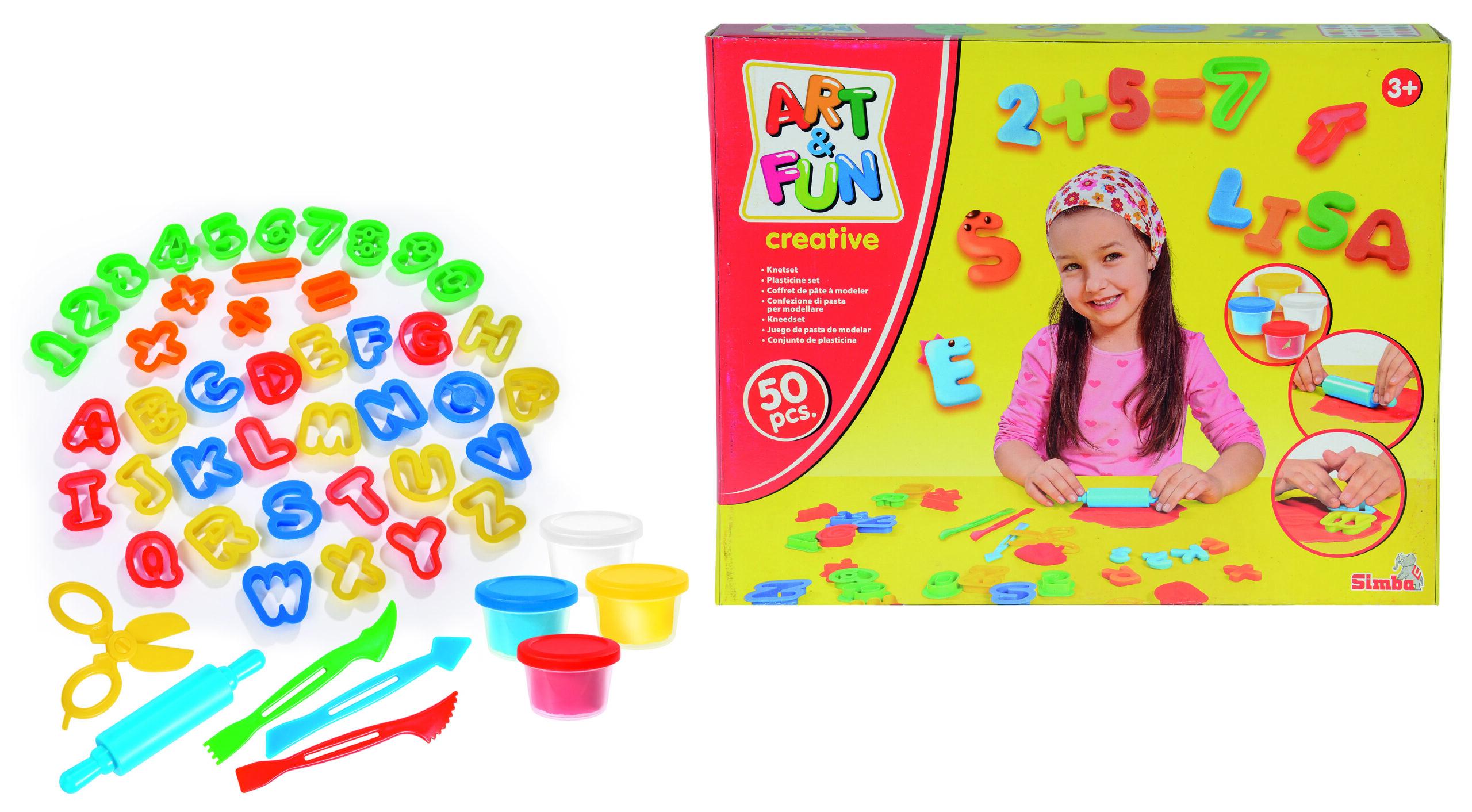 Simba - Art & Fun Dough Set ABC and Numbers (6325377)