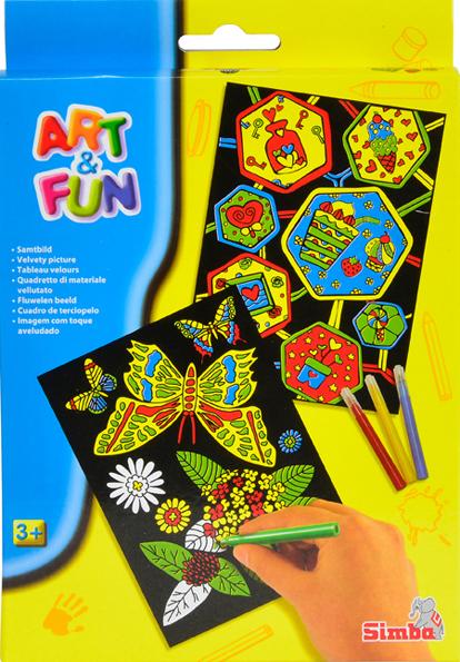 Simba - Art & Fun Velvet Pictures To Paint (6332391)