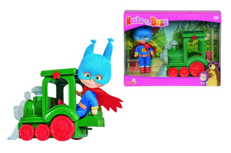Simba Masha Superhero With Train - 9302119