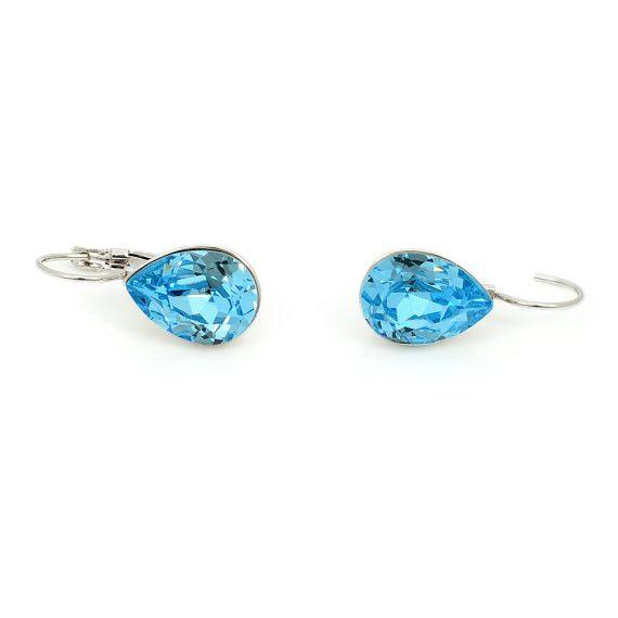 Swarovski Elements Crystal Clip-on Earrings Sea Blue (SWR-479)