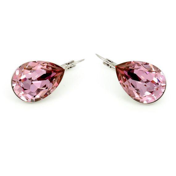Swarovski Elements Pink Crystal Clip-on Earrings (SWR-480)